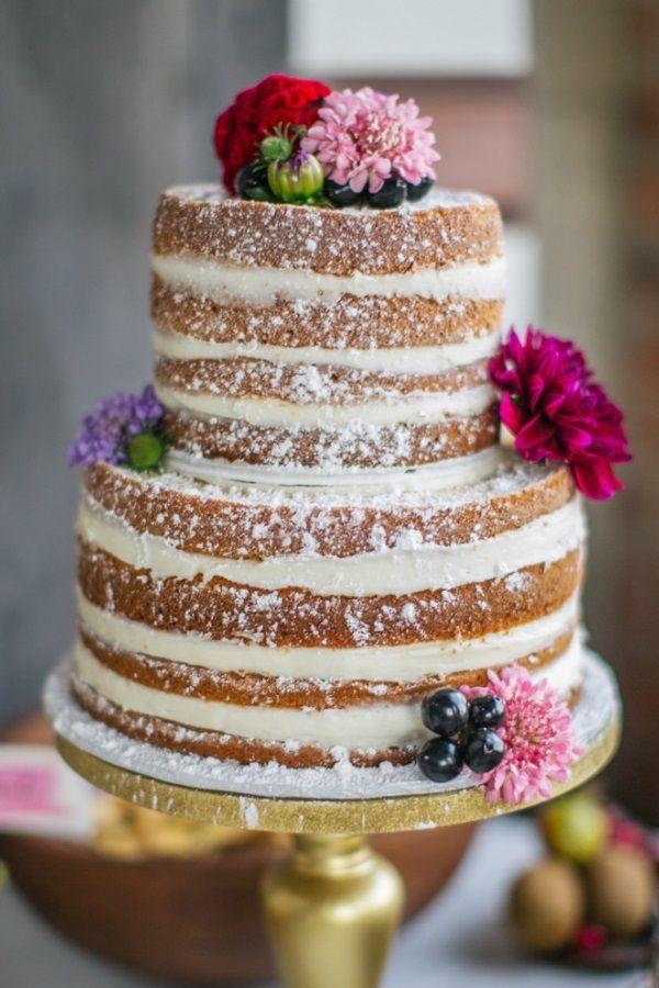 decoraç u00e3o de bolo com flores naked cake Pesquisa Google Decoraç u00e3o de Festas Bolo de  -> Decoração De Bolo Com Flor Natural