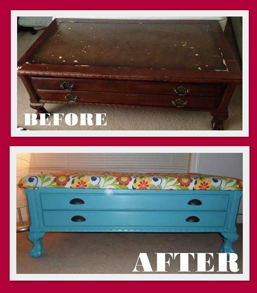 Antique Coffee Table From Thrift Store Upcycled Into A
