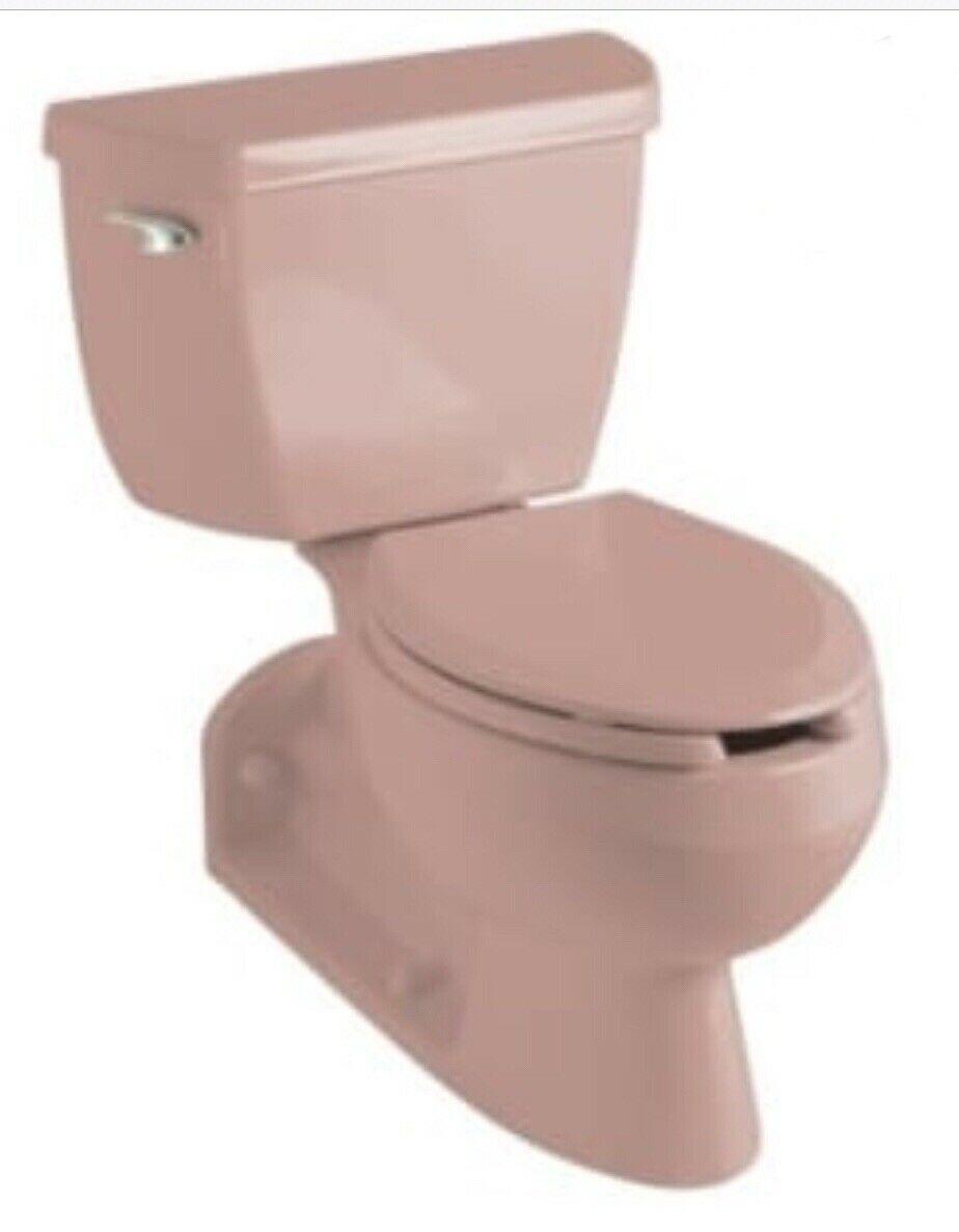 New Kohler K 3536 45 Wild Rose Pink Barrington Toilet Tank Bowl