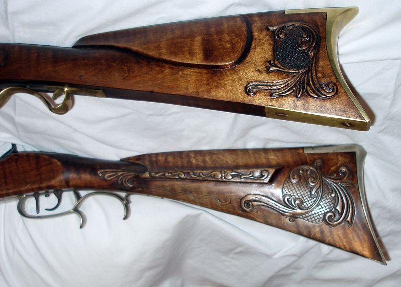 Wood gun stock carving patterns muzzleloading memories