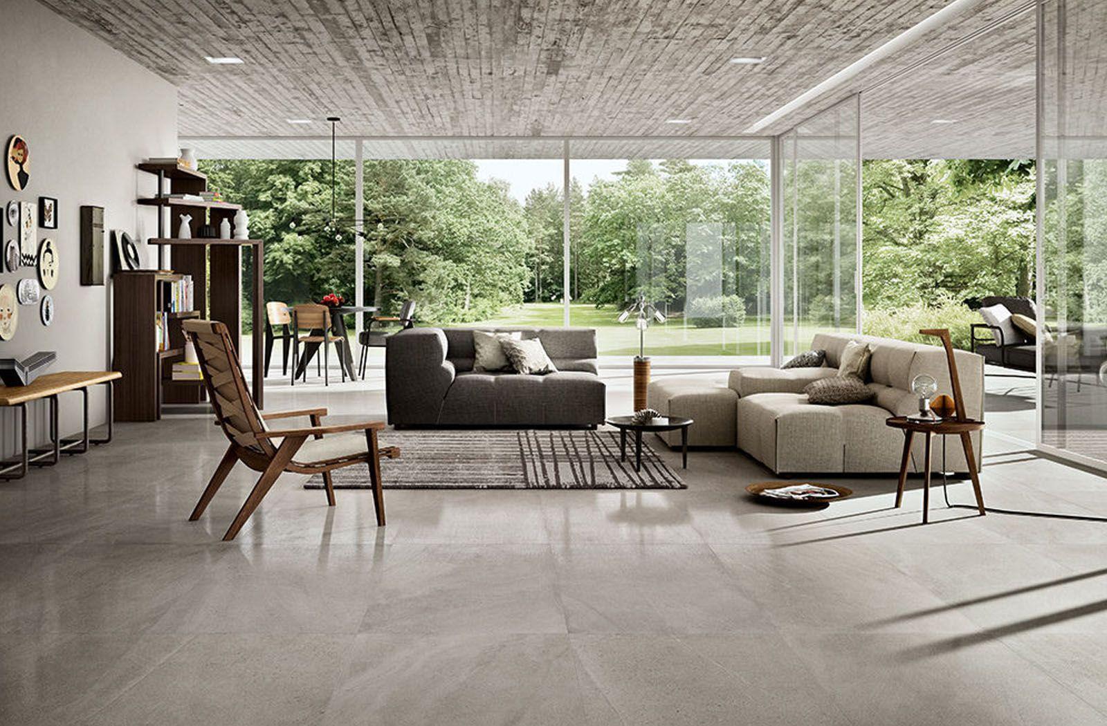 Beautiful Grey Modern Living Room Floor Tile From Limestone