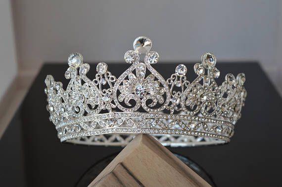 Bridal Crown,Royal Crown,Crystal Bridal Crown,Wedding Crown,Wedding Hair Accessory,Wedding Headpiece,Bridal Hairpiece,Swarovski Crystals !!!