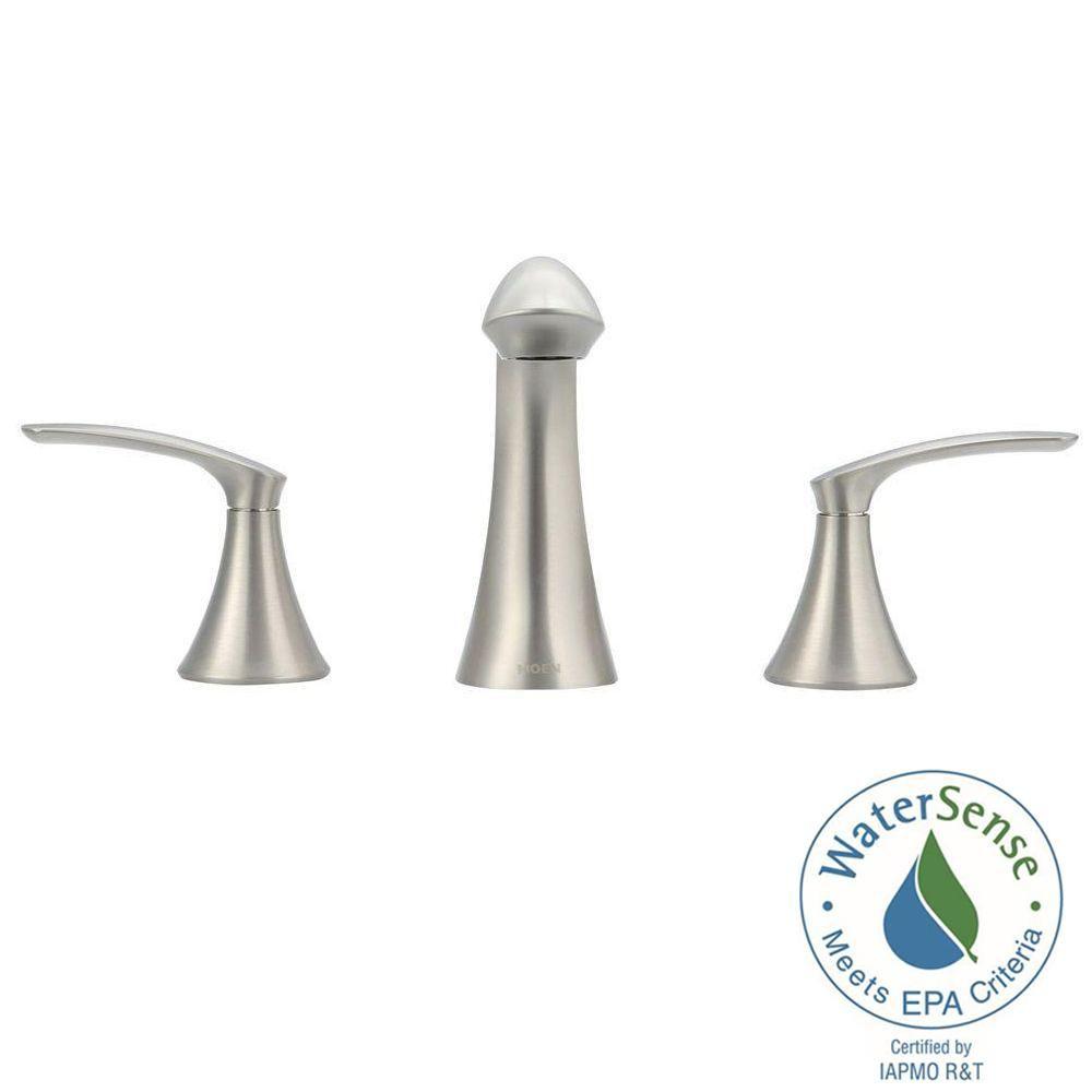 Moen Darcy 8 In Widespread 2 Handle High Arc Bathroom Faucet Spot