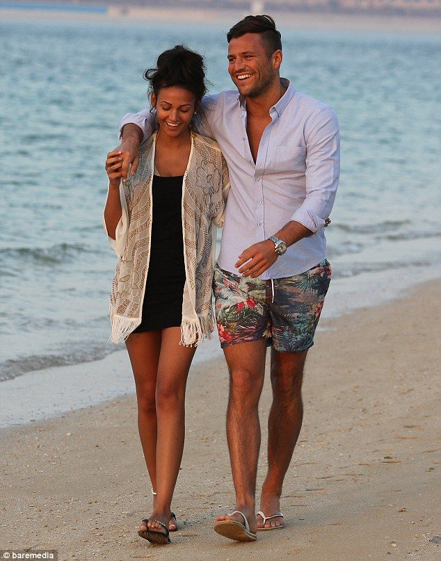 b0136d3dc3 Michelle Keegan and Mark Wright put on an amorous display in Dubai ...