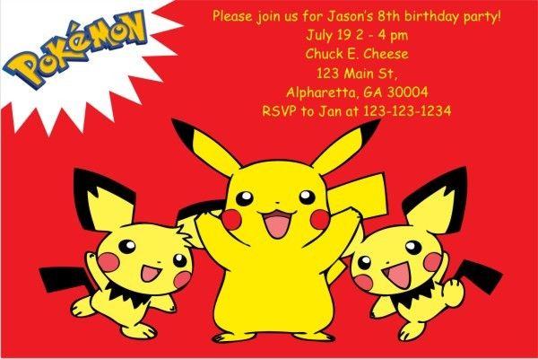 Pokemon Birthday Invitations Personalized Birthday Card Ideas Monster Birthday Invitations Personalized Birthday Cards Birthday Invitations