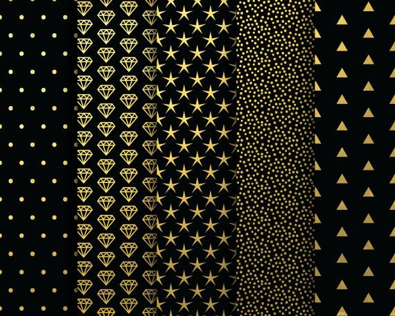 Digital Papers Black And Gold Metallic Digital Blog Backgrounds