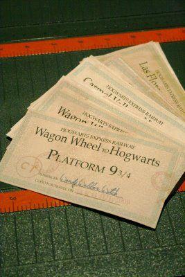 Hogwart's Express Ticket