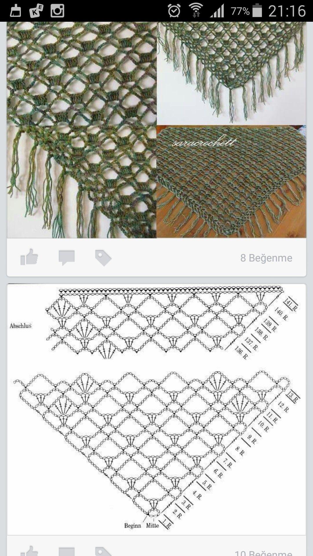 Pin de Claudia Giombi en Crochet | Pinterest | Chal, Ganchillo y Ponchos