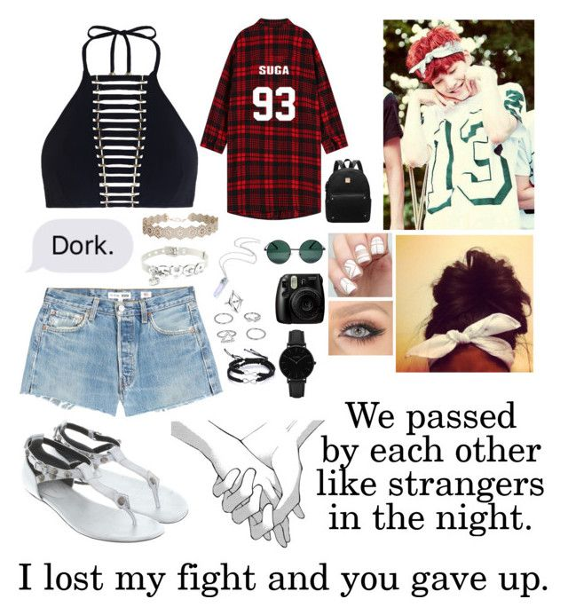 """""""Come back someday."""" by gabby167 ❤ liked on Polyvore featuring RE/DONE, Zimmermann, Fujifilm, Balenciaga, Humble Chic, Boohoo, YHF and CLUSE"""