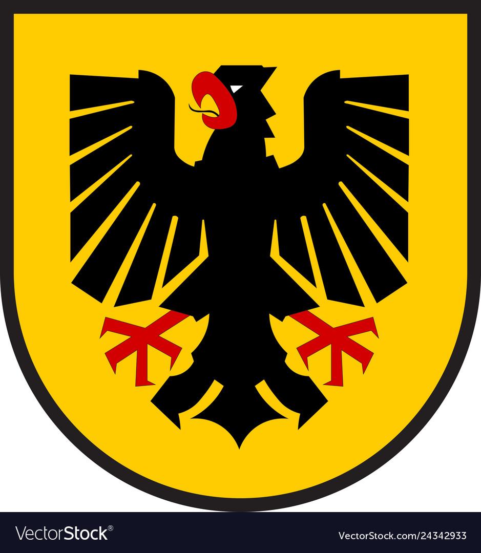 Coat Of Arms Of Dortmund In North Rhine Westphalia Vector Image En 2020 Escudo De Armas Dortmund Escudo