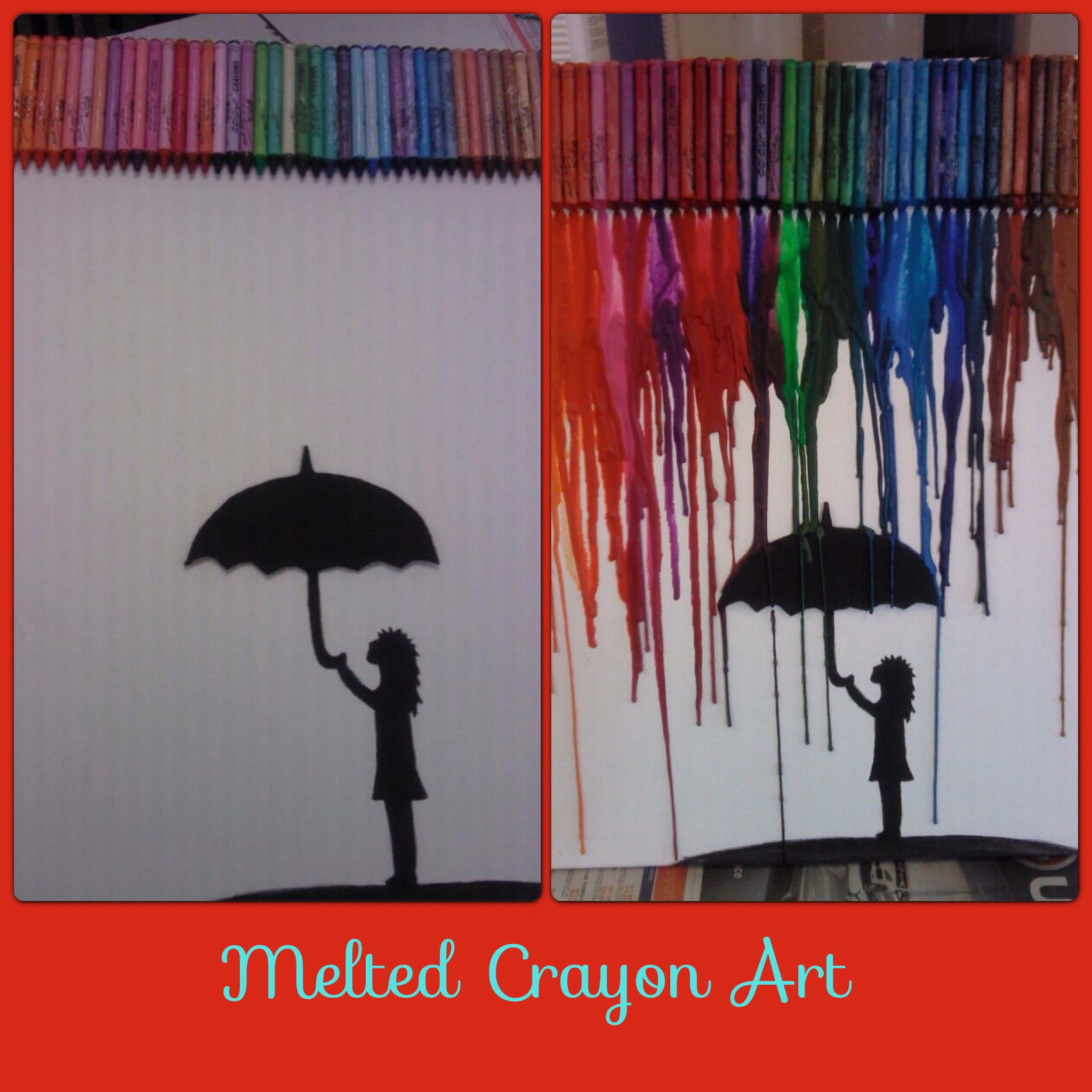 Melted Crayon Art  Canvas  Colour