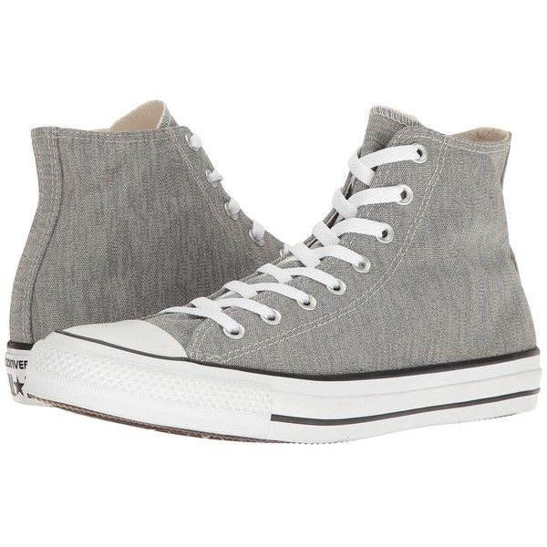 07cdd42a0aaee Converse Chuck Taylor All Star Heathered Knit Hi (Charcoal... ( 65) ❤ liked  on Polyvore featuring shoes