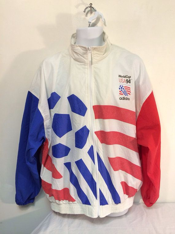 29a5750748079 ADIDAS Jacket WORLD Cup USA Vintage 1994/ Nylon Soccer Zip Up ...