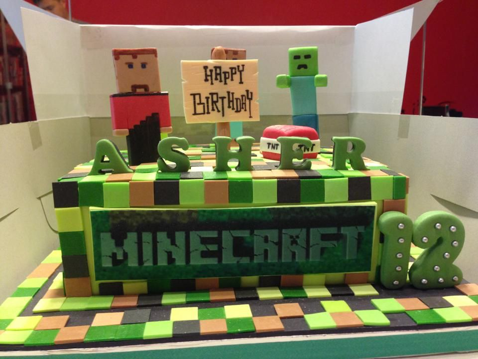 Minecraft Themed Cake Thanks For Great Cake My Son Had
