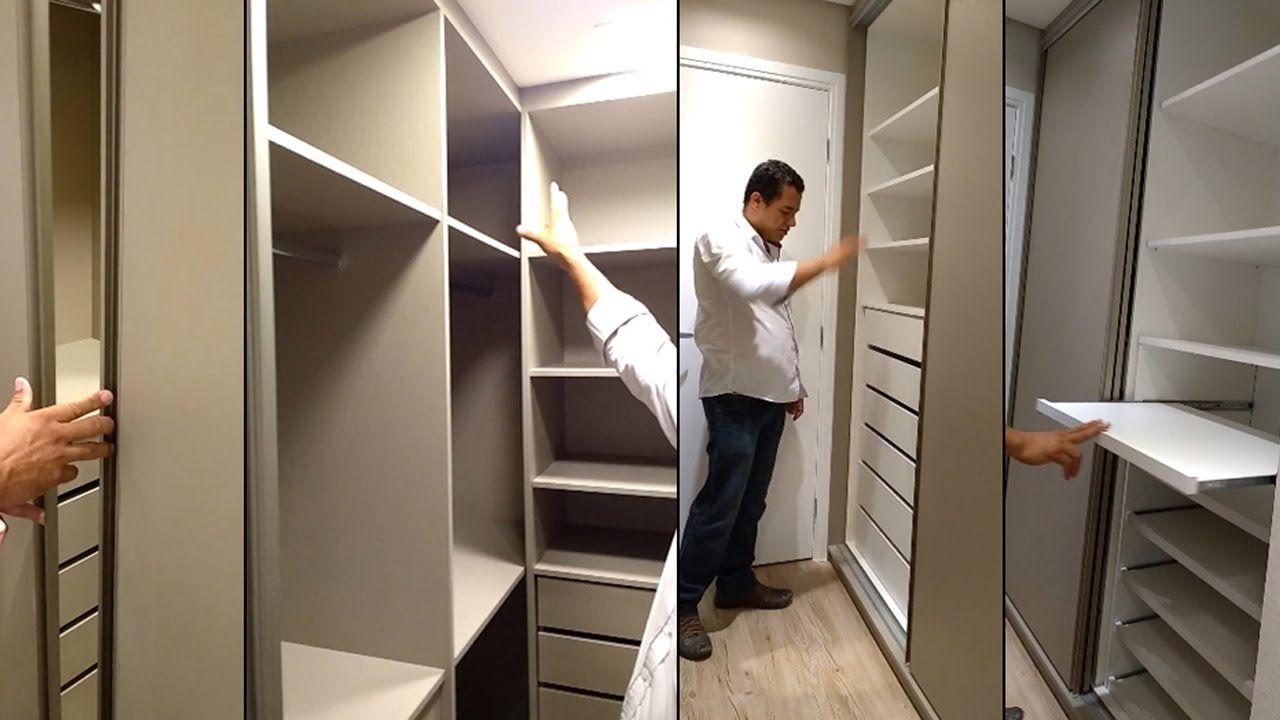 Quarto De Casal Planejado Com Closet Arm Rio Embutido E  ~ Quarto De Casal Pequeno Com Closet