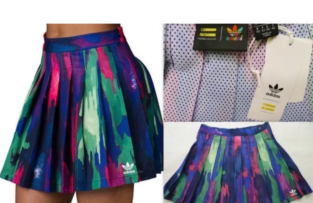 c386bd14839cc adidas Pharrell Williams Camo Pleated Mesh Tree Skirt Women s AO3161 Size S  RARE  adidas  Pleated