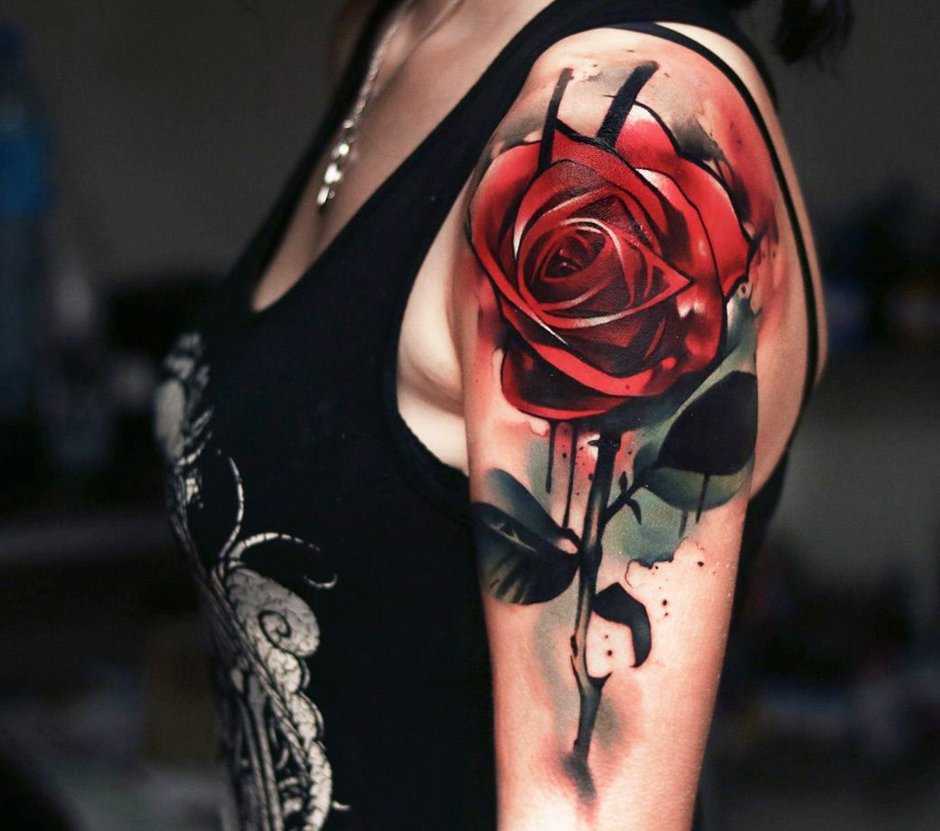Photo Red Rose Tattoo By Uncl Paul Knows Photo 16249 Rose Tattoo Sleeve Tattoos Red Rose Tattoo