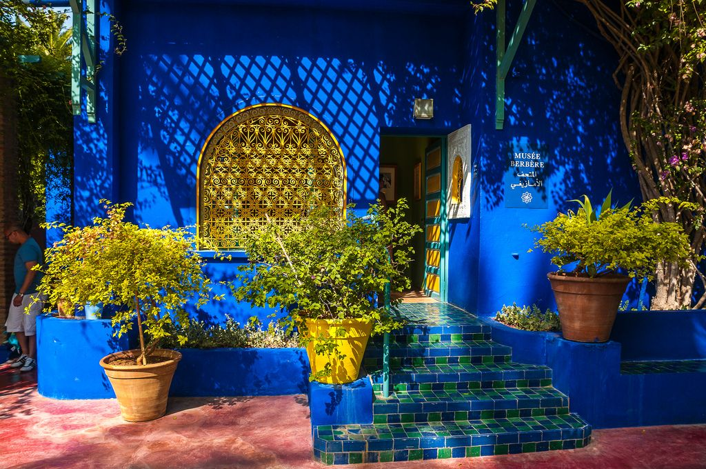 jardin majorelle marrakech verdure et couleurs dedans dehors pinterest jardin majorelle. Black Bedroom Furniture Sets. Home Design Ideas
