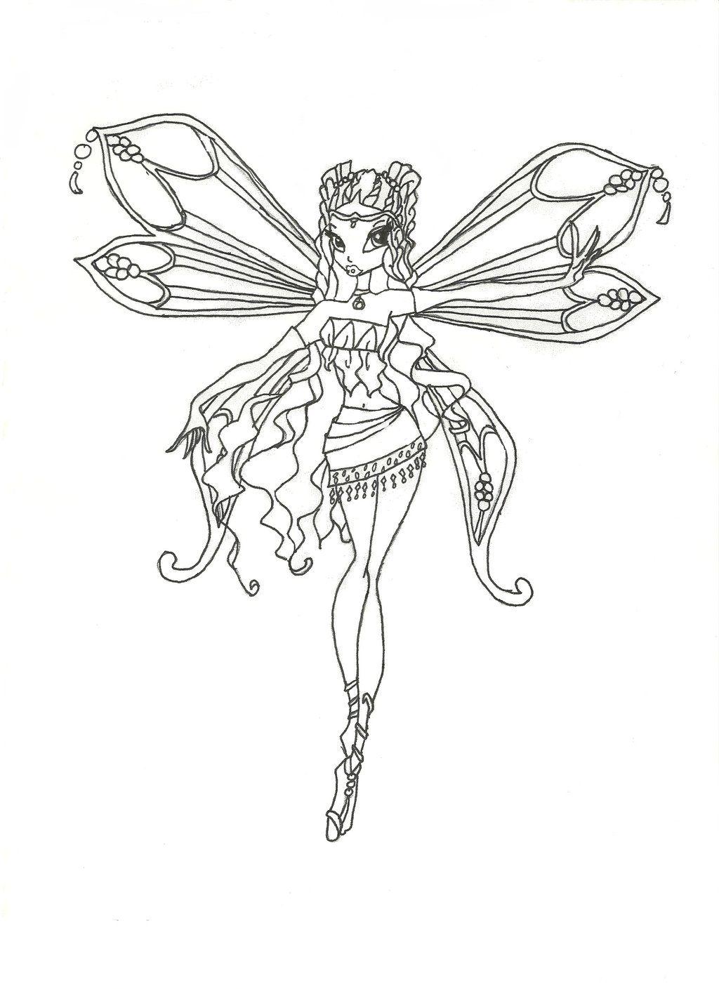 Winx Club Enchantix Layla Coloring Page By Winxmagic237 Deviantart Com On Deviantart Winx Club Coloring Pages Club Color