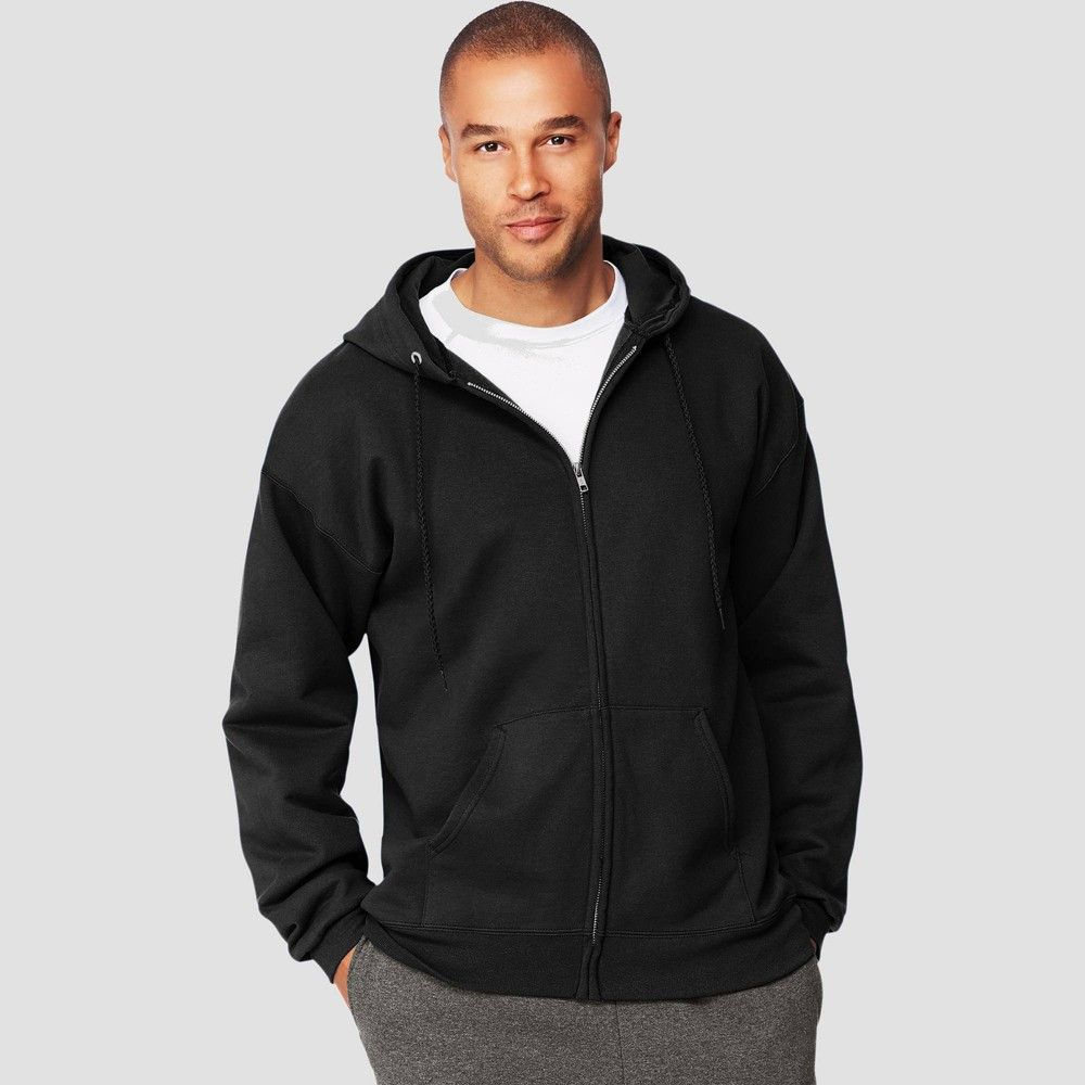 Hanes Men S Ultimate Cotton Full Zip Hooded Sweatshirt Black Xxl Hooded Sweatshirts Full Zip Hooded Sweatshirt Black Sweatshirts [ 1000 x 1000 Pixel ]