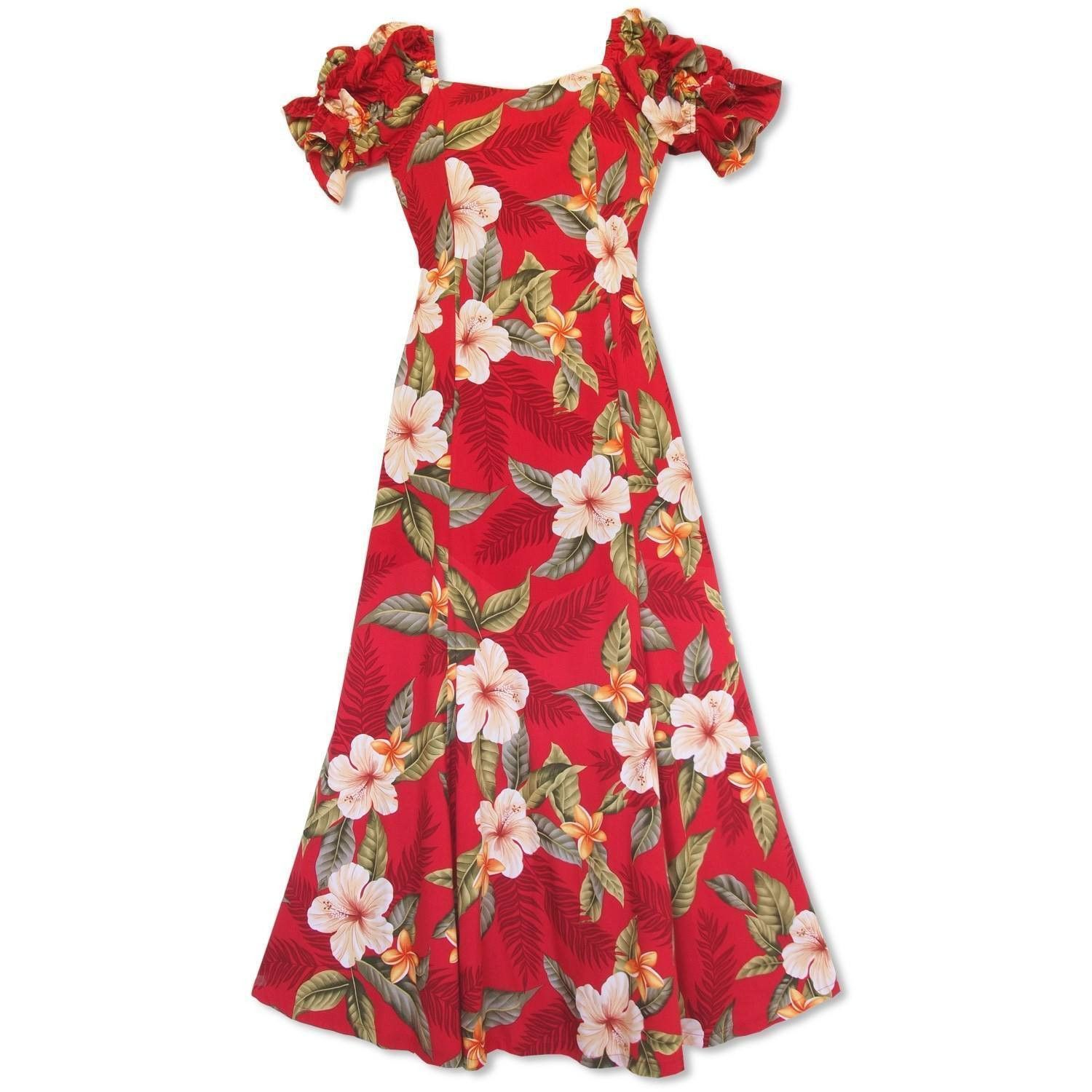 bd774513cf1d Makaha Red Aikane Hawaiian Dress in 2019 | Top 100 Hawaiian Dresses ...