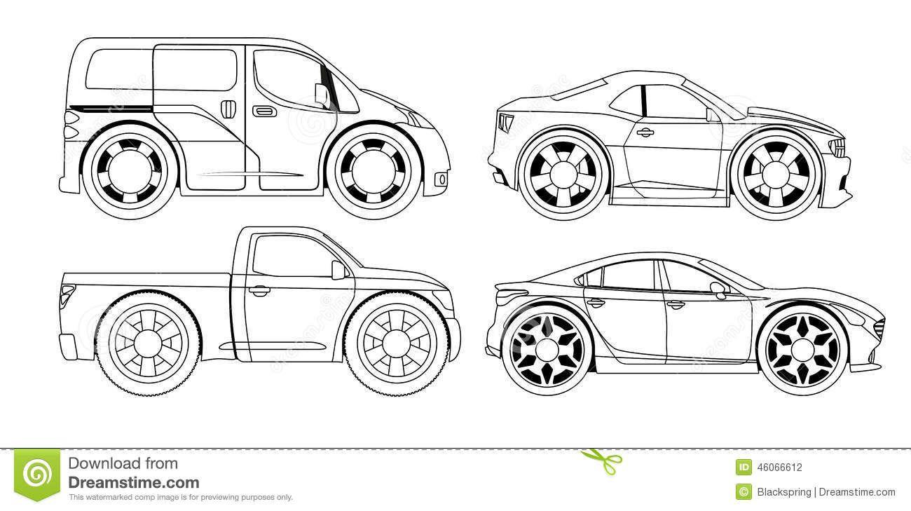 Httpthumbsdreamstimezcoloring book stylized cars set big httpthumbsdreamstimezcoloring book stylized cars set big wheels 46066612g vehicle blueprint pinterest vehicle malvernweather Choice Image