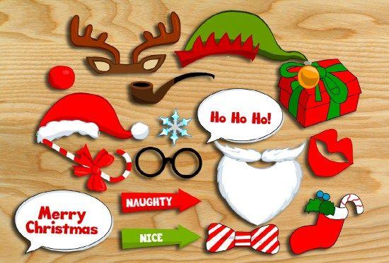 Free Printable Christmas Photo Booth Props Free Christmas
