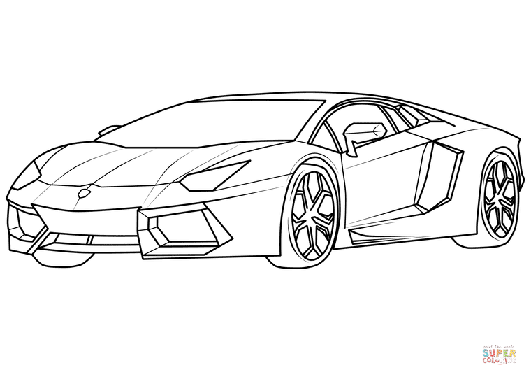 Lamborghini Aventador Supercar | Super Coloring | DRAWINGS ...