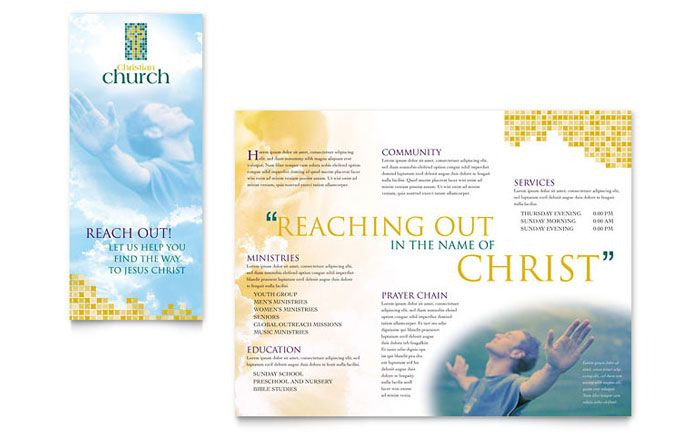 Christian Church Brochure Design Template By Stocklayouts