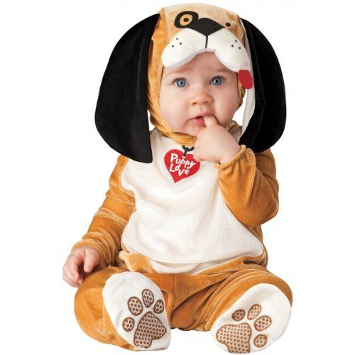 Lil Characters Unisex-baby Infant Puppy Costume, Tan/White/Black - halloween costume ideas for infants