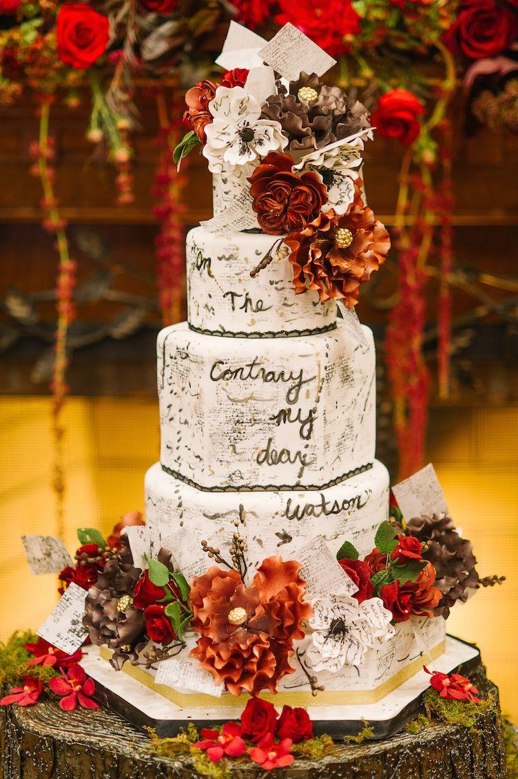 Sherlock Holmes Inspired Wedding Cake Design From The Caketress