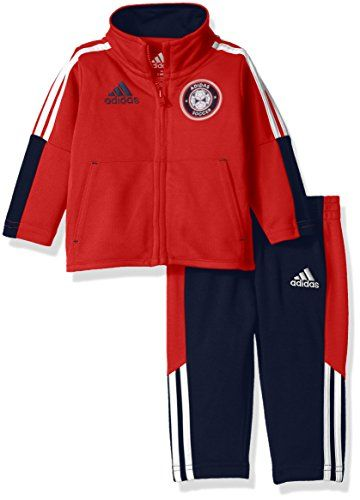27505f9da adidas Baby Boys Tricot Jacket and Pant Set Light Scarlet 12 Months ...