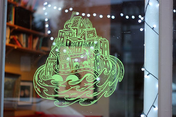 Brockley Window Art Shows Magical Urban Spaces   Londonist ...