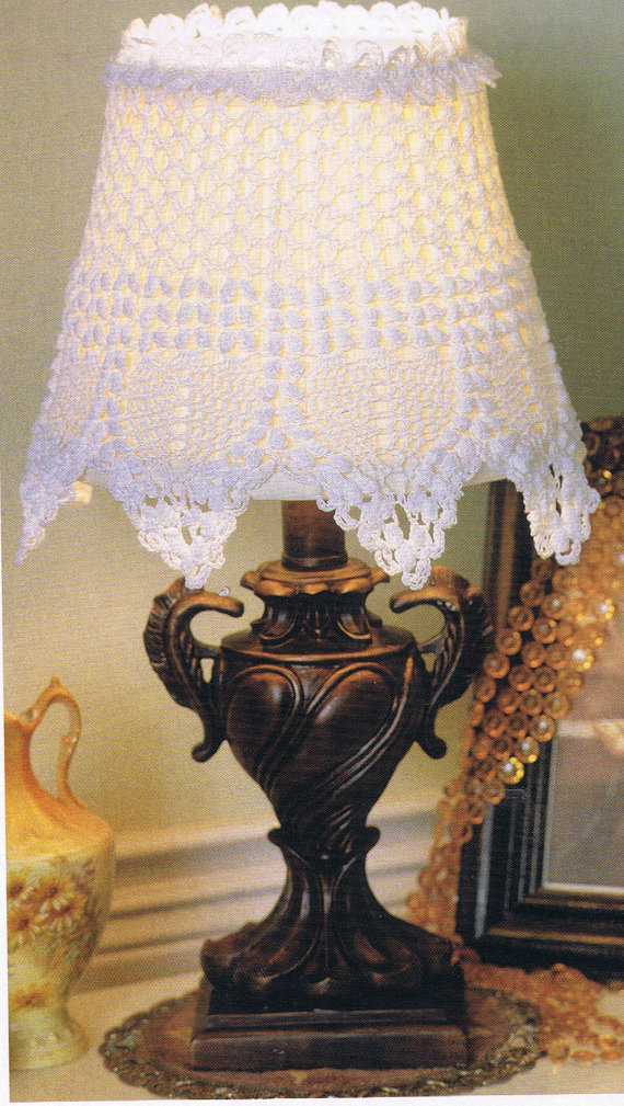 Lacey Lamp Shade Crochet Pattern Home Decor Crochet