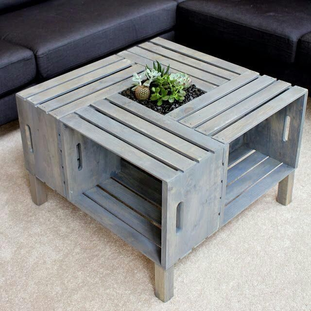 diy crate furniture. diy crate coffee table diy home decor on a budget furniture