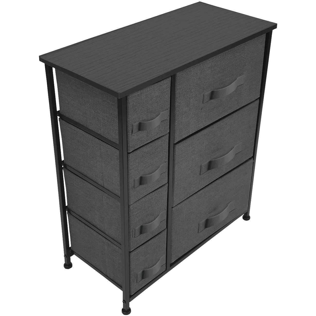 Black 7 Drawers Chest Dresser Walmart Com Chest Dresser Storage Furniture Chest Of Drawers