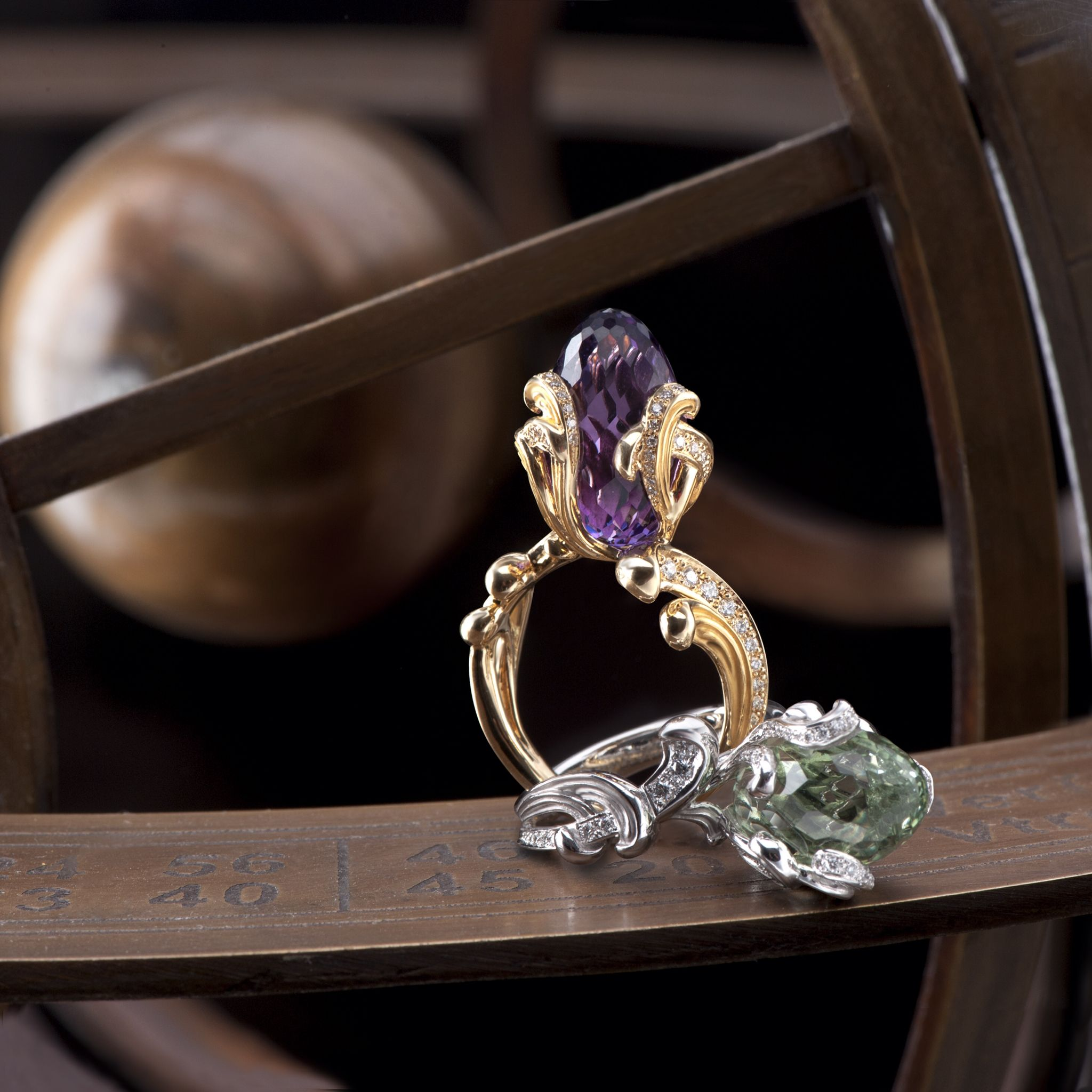 White gold diamond ring piaget luxury jewellery g34ut300 - The Scrolls Of The Origen Medium Ring Emulate Flames Of Fire That Surround The Amethyst And
