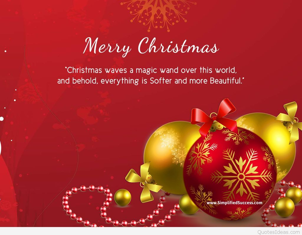 Christmas Quotes And Graphics: Merry Christmas Quotes On Card