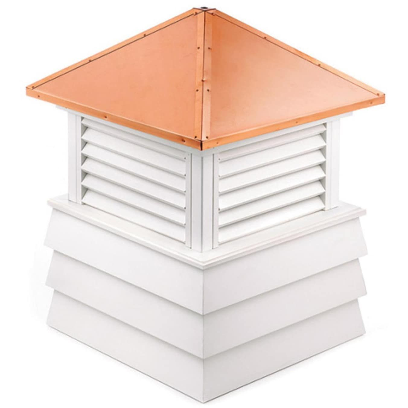 Best 59 Handcrafted Dover Copper Roof Vinyl Cupola White 640 x 480