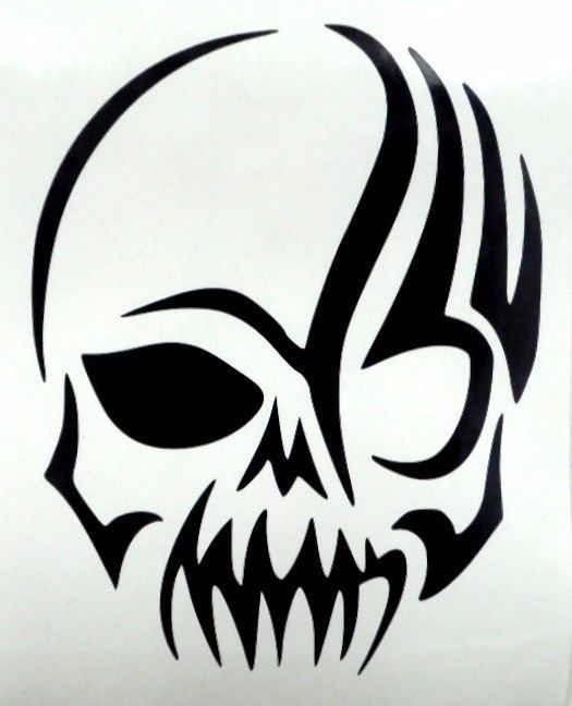 Details About Skull Cool Tribal Car Truck Window Vinyl Decal