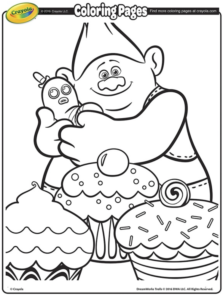 Trolls Party Crayola Coloring Pages Poppy Coloring Page Free Kids Coloring Pages