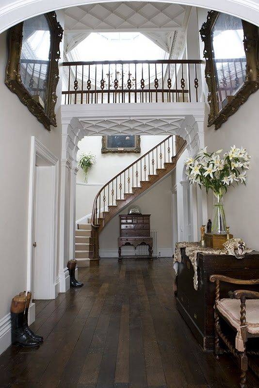 I like the bridge in the house idea for a foyer just a for House plans with stairs in foyer