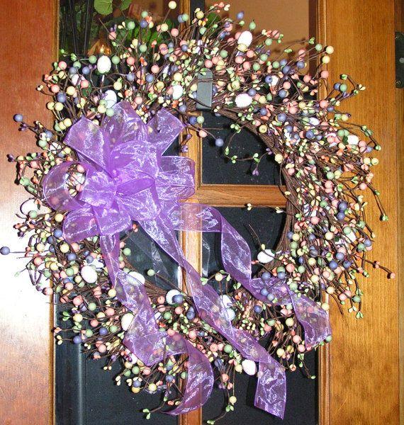 Springtime/Easter Wreath Full of Pastel by PrimitiveHomeDecor1, $32.00