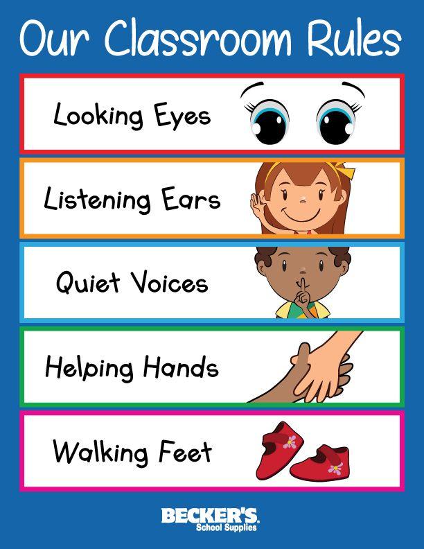 Preschool Classroom Rules – Becker's School Supplies