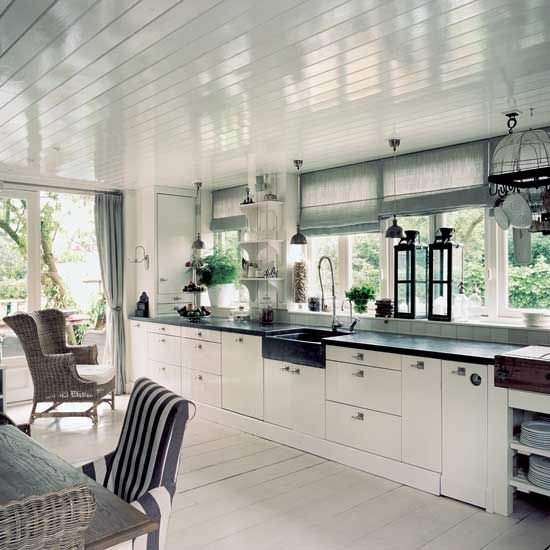 Perfect Perfect Kitchen. Clean Lines, Natural Light, Apron Sink, Tall Sprayer.  Gleaming