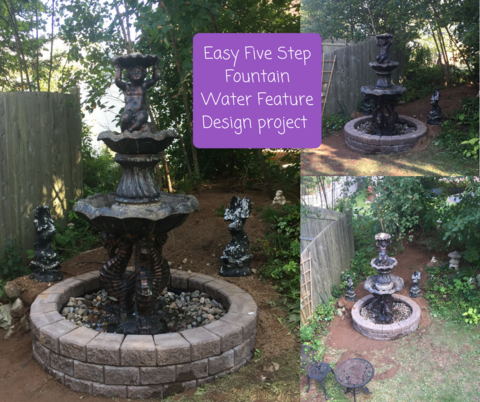 Easy: 5 Step Victorian Garden Fountain Water Feature Project Project  Difficulty: Medium MaritimeVintage.com