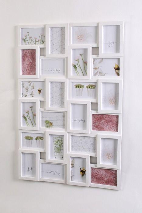 Bilderrahmen 56,7 x 85,4 cm Weiß Kunststoff