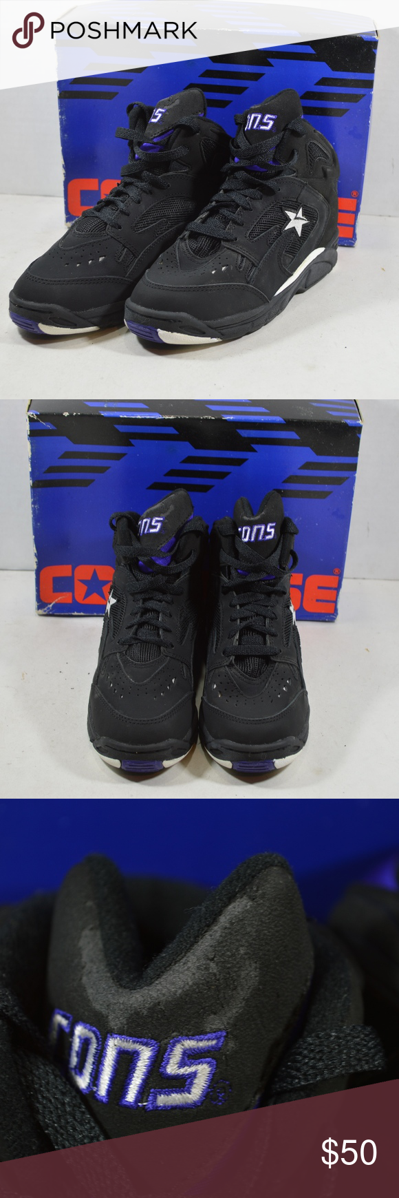Vintage 90s Converse Mens React Basketball Shoes Vintage 90s