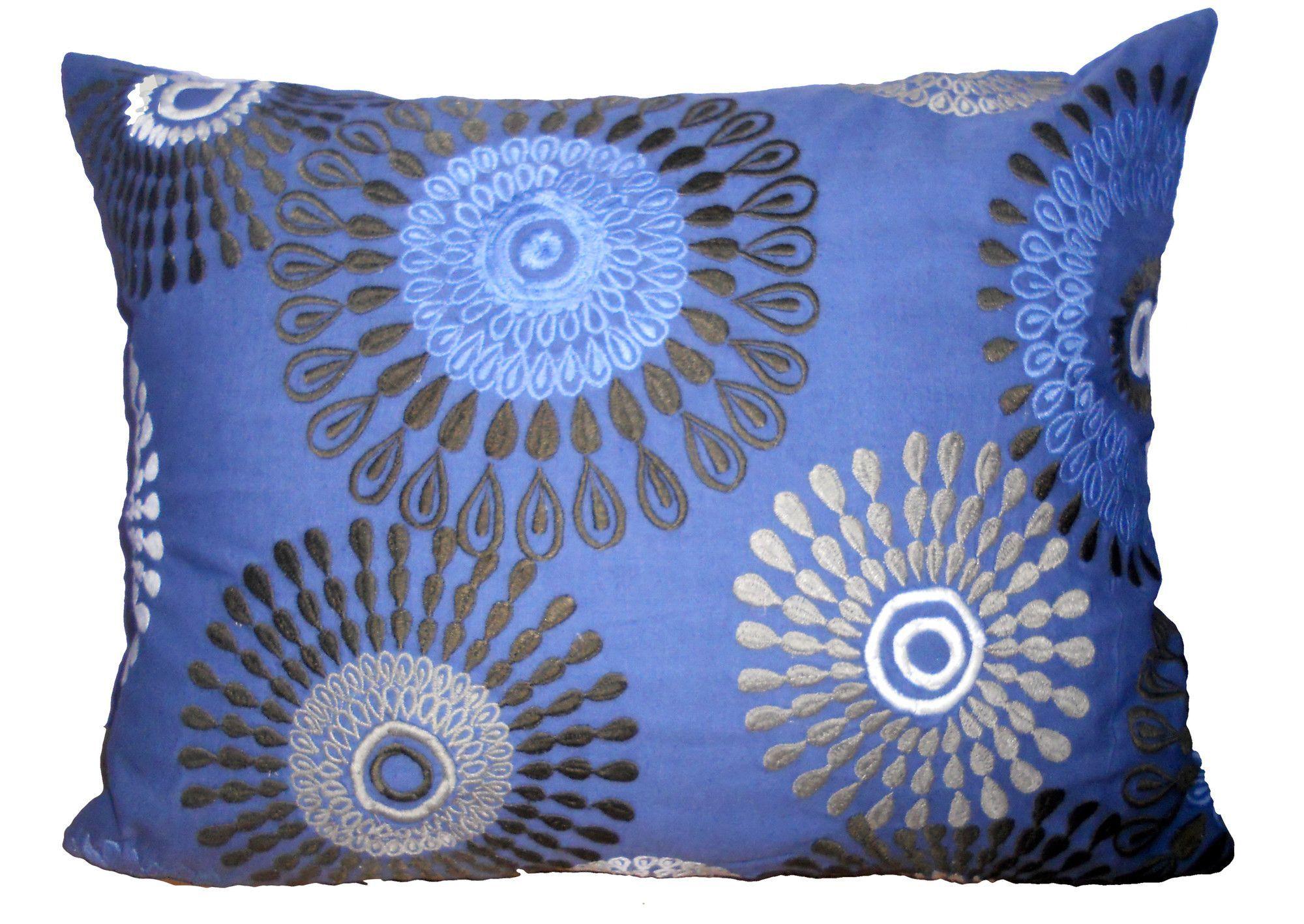 Kempton Embroidered Throw Pillow