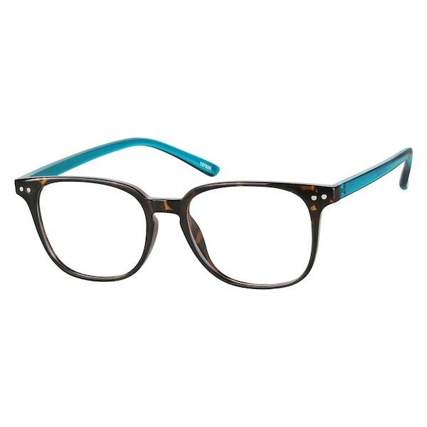 c6c639b56451 Zenni Square Prescription Eyeglasses Tortoiseshell Other Plastic 127925